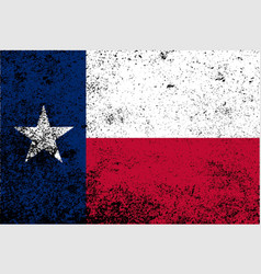 Texas state flag grunge vector