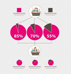 Time management infographic vector