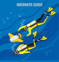 Underwater search background vector