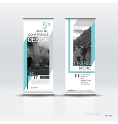 Vertical banner template design vector