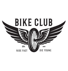 vintage and modern bike logo badge and label vector image