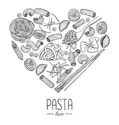 Vintage italian pasta restaurant vector