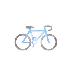 watercolor bicycle on white vector image
