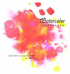watercolored splash blot in red color vector image