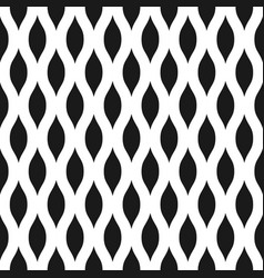 Wavy seamless pattern background in black and vector