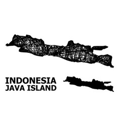Wire frame map java island vector