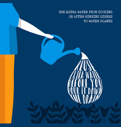 World water day eco friendly lifestyle information vector