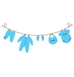 baby clothes boy vector image vector image