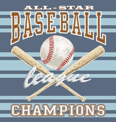 baseball league vector image vector image