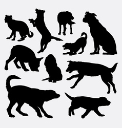 Dog pet animal silhouette 9 vector image vector image