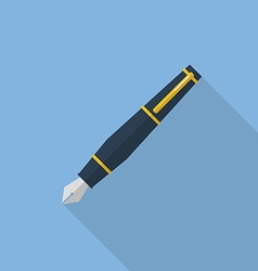 Pen flat icon vector image