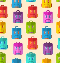 Seamless Pattern with Colorful School Rucksacks vector image