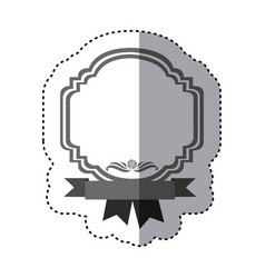 sticker monochrome silhouette border heraldic vector image