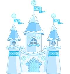 winter castle vector image