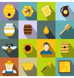 Apiary flat icon vector image vector image