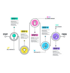 Company journey path infographic roadmap with vector