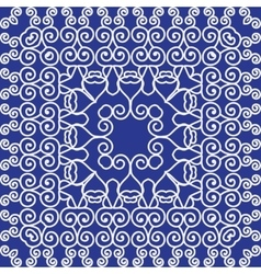 Simple pattern ornament kaleidoscope by chinese vector