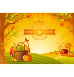 Thanksgiving day Beautiful vector image vector image
