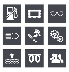 Icons for Web Design set 19 vector image