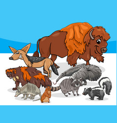 american animals group cartoon vector image vector image