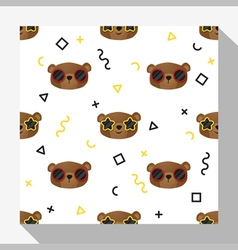 Animal seamless pattern collection with bear 6 vector image vector image