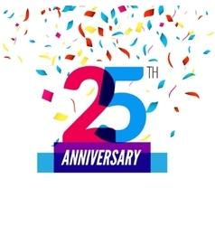 Anniversary design 25th icon anniversary vector image