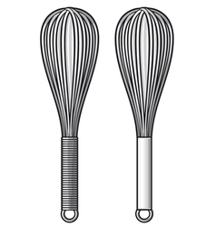 balloon whisk vector image vector image