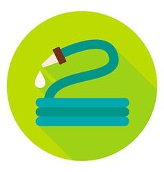 Garden Watering Hose Circle Icon vector image