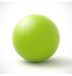 Green sphere on white background vector image vector image