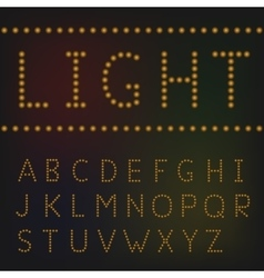 Light letter set vector image