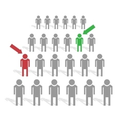People search industry vector image