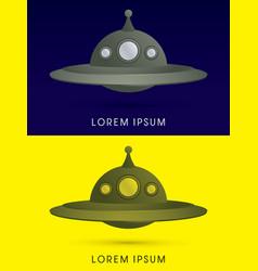 Ufo alien spaceship flying vector