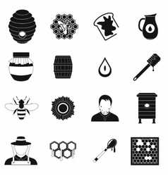 Apiary black simple icon vector image