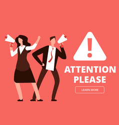 attention banner or web page template vector image