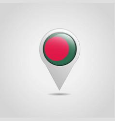 bangladesh flag map pointer design vector image