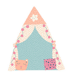 Beautiful children tent great design for any vector
