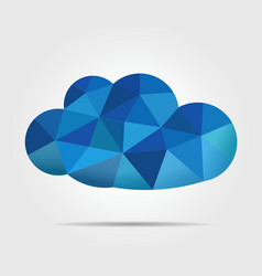 blue mosaic cloud vector image