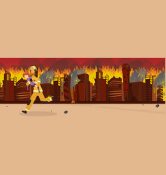 Cartoon fire extinguishing vector