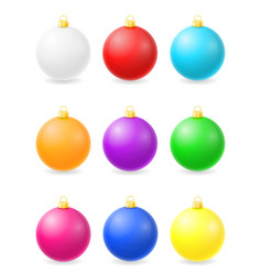 christmas balls stock vector image
