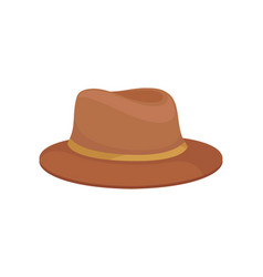 classic brown hat for men on vector image