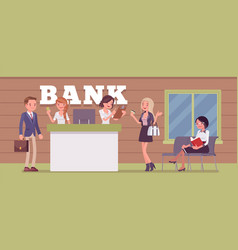 clients and consultants in a bank office vector image