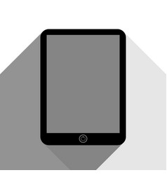 computer tablet sign black icon with two vector image