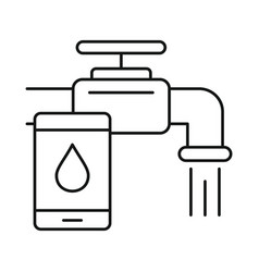 Control home water tap icon outline style vector