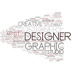 Designers word cloud concept vector