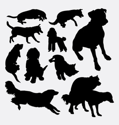 Dog pet animal silhouette 10 vector