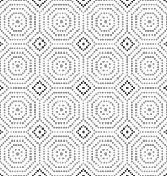 Dotted octagons and dark squares vector image