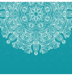 Elegant invitation with lace round ornament on vector
