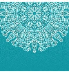elegant invitation with lace round ornament vector image