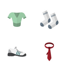 flat icon dress set of cravat sneakers foot vector image