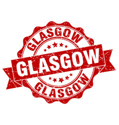 Glasgow round ribbon seal vector